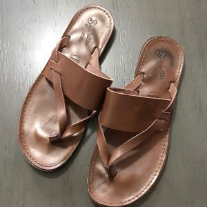 SEYCHELLES LEATHER SANDALS SIZE6 BROWN